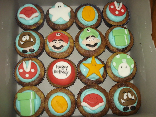 Mario Cupcakes by Little Sweeties Cupcakes
