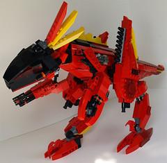 Velociraptor Mech 1 (Saber-Scorpion) Tags: lego walker mecha mech xarkon novarefuge