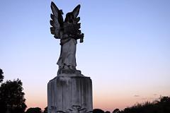 (Winnie Liu // photography + art) Tags: blue sunset sky cemetery angel photography liu scenic winnie winnieliu wliu