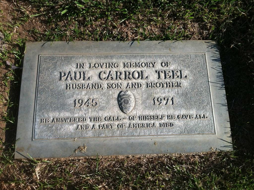 Officer Paul Carrol Teel - Riverside PD