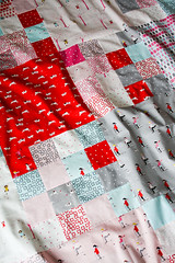 Sherbet Pips Top (Jeni Baker) Tags: june modern quilt handmade sewing quilting stitching block quilts crafting 2011