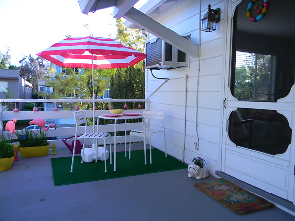 kitschy patio