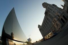 Liverpool (Ajdacho) Tags: sky sun glass liverpool dock sony sigma fisheye 10mm a55 sigma10mm