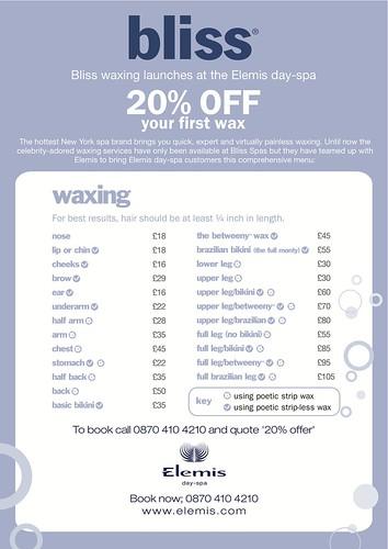 Bliss Waxing A4 PDF