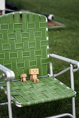 lawn chair (buboplague) Tags: water toy japanese outdoor mini danbo danbos