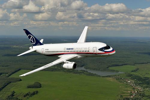 «SSJ 100» ինքնաթիռ, որը աշխարհում առաջինը գնել է Հայաստանը