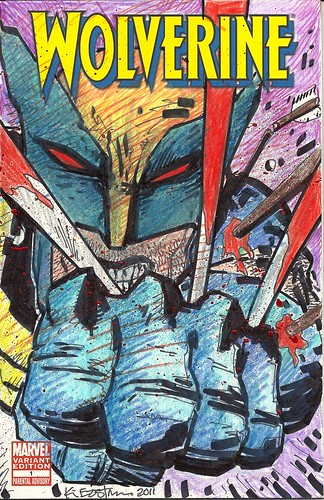 "Panel to Panel :: WOLVERINE ""Blank Variant"" cover .. by Kevin Eastman (( 2011 )) [[ Courtesy of P2P ]]"