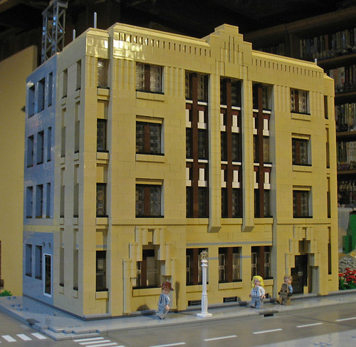 Another Detroit Building modeled in LEGO