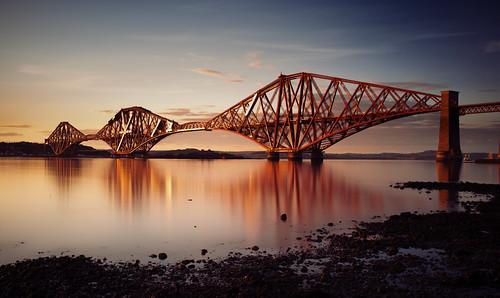 フリー写真素材, 建築・建造物, 橋, 夕日・夕焼け・日没, イギリス,