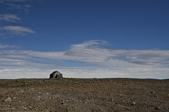 The Hermit (Matteo Andreozzi) Tags: house home tiny isolated hermit solitude seclusion loneliness iceland fields sky rocks rock landscape abstract painting