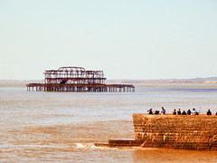 The West Pier, Brighton Seafront (photphobia) Tags: brighton eastsussex southeastengland southeast coast holiday beach sea seaside seafront oldtown oldwivestale outdoor outside westpier ruin pier