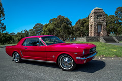 HOSS (evvvvan) Tags: ford mustang coupe red melbourne australia shiny