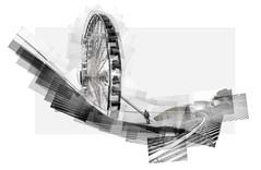 Centennial Wheel / Navy Pier (UlisesBedia) Tags: panograph panographic panorama panografie panoram panoramic fair navy pier chicago blackandwhite dramatic bedia blancoynegro day