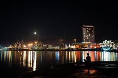 Just Sitting (M.Boubou) Tags: georgia batumi visit city tour night water light refelction sitting