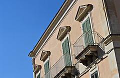 Sicilian summer (i.kazlauskaite) Tags: sicilian summer house ragusa ibla blue sky green doors sicily sicilia