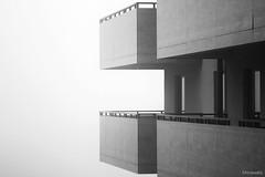 _MG_7315 (Morawatz) Tags: mist balcony building architecture bw lines geometry contrast windows wall straight monochrome shadows fog fogy sharp edges emptiness minimal simple alone void eternity infinite abstract