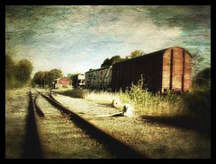 Last train... (iEagle2) Tags: train lundsbrunn autumn iphone iphone4 sweden tracks distressedfx