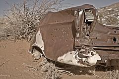Dead Car (Jonmikel & Kat-YSNP) Tags: winter abandoned car march rust desert hiking antique rusty hike trail wyoming redrock taillight thebus wy lander singletrack busloop fremontcounty baldwincreek