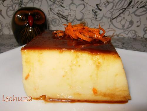 Flan queso y naranja-detalle