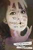 12/52 - Palabras (Lunayda) Tags: girl strange face vintage words nikon fear express write universe nikond5000