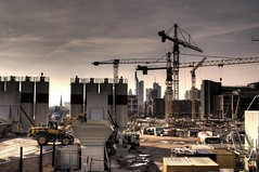 FFM - Under Construction (n3rd0) Tags: city skyline germany am construction nikon frankfurt main 4 sigma f1 baustelle hdr ffm ezb 30mm osthafen d90 photomatix