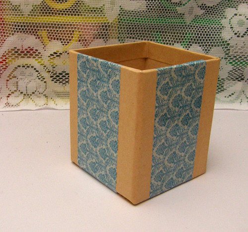 deco tape pencil holder after