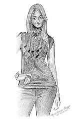 Girl with Black Dress (Light and Life -Murali ) Tags: art pencil sketch drawing toi muralagar