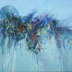 "<b>Blue Matrix</b><br/> Richard Scherubel (LC '63) (Acrylic)<a href=""http://farm6.static.flickr.com/5065/5571792052_bc9bd3e68e_o.jpg"" title=""High res"">∝</a>"