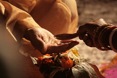 Offering (jepoirrier) Tags: india water hand marriage offering bengal