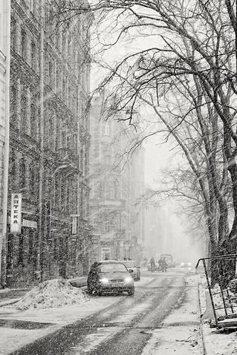 The snowstrom at spring by dyadyavasya