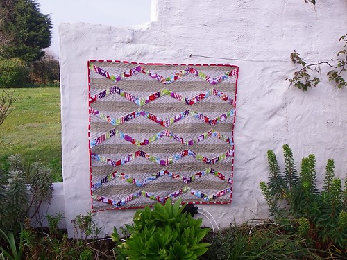 Finished Tufted Tweets quilt