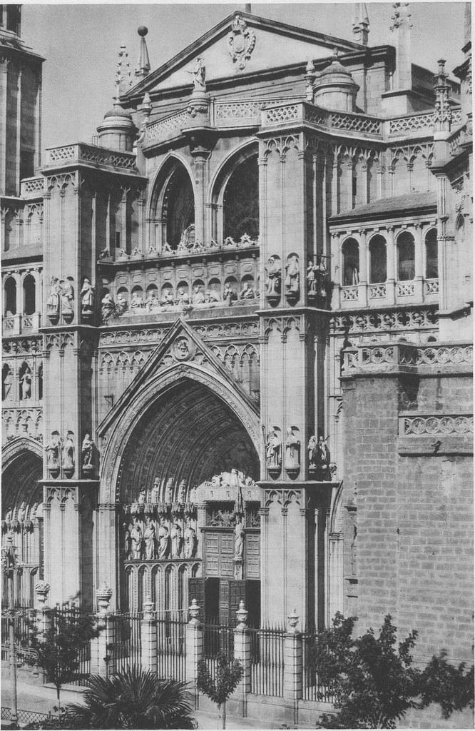 Catedral de Toledo hacia 1925. Fotograbado de Friedrich Christiansen