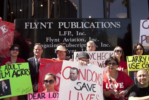 Condoms in Porn/ Larry Flynt Protest