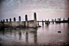 Hurst Spit (John L. Wainwright) Tags: sea seaweed beach fence rocks waves shingle spit coastal defence groin hurst