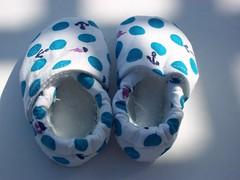 Nautical Baby Booties (jessa_aka_jalapeno) Tags: navy anchor nautical babyshoes babybooties clothshoes