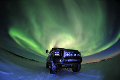 Fordscape (savillent) Tags: new blue sky snow canada black ford truck dark stars landscape nikon space nwt harley astrophotography aurora stunning april davidson astrology northernlights borealis 2011 tuktoyaktuk d300s