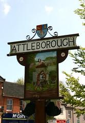 Attleborough, village sign (beery) Tags: england turkey heraldry arms norfolk cider gaymers attleborough villagesign bernardmatthews