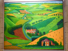The Road Across the Wolds - painting by David Hockney (1997) (hellimli) Tags: bradford yorkshire unescoworldheritagesite davidhockney saltaire shipley westyorkshire saltsmill victorianengland englishvillage sirtitussalt victoriahall congregationalchurch newmill stpaulsparishchurch flickraward thebestofday gnneniyisi yorkshiremills flickrunitedaward victorianmodelvillage hockneygallery the1853gallery theroadacrossthewolds