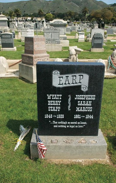 Wyatt Earp\'s Grave, Colma, San Francisco, 30th March 2011