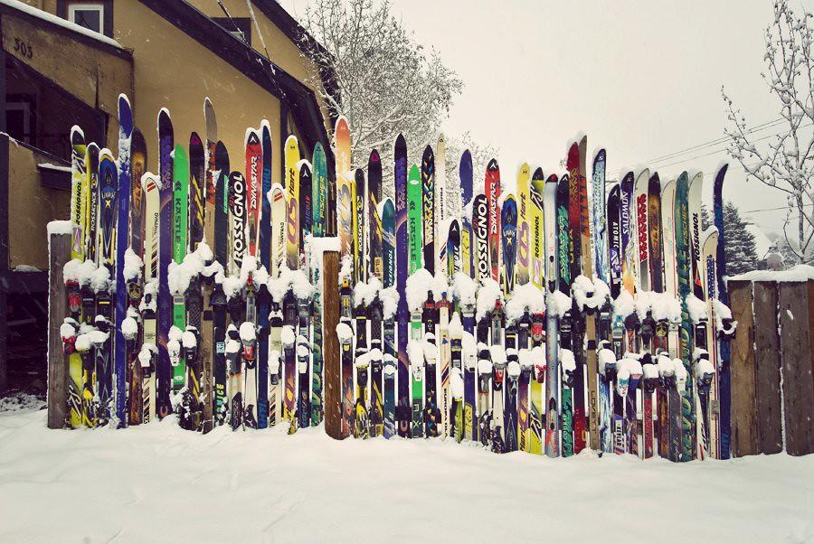 Ski Town Fence