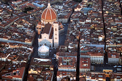 It Looks Like a Wonderful Toy. (Firenzesca) Tags: sunset sky landscape town florence cityscape flight firenze duomo wonderland