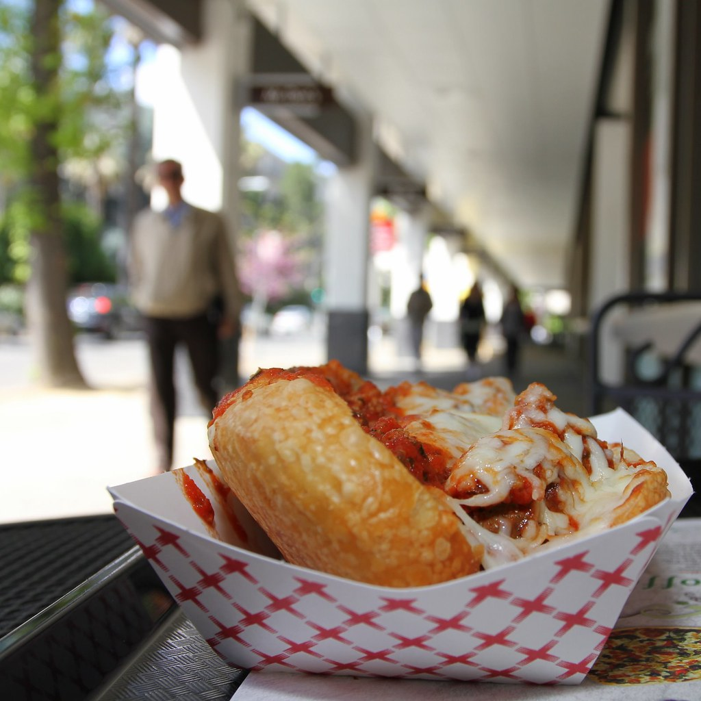 Meatball Sub @ cafe roma