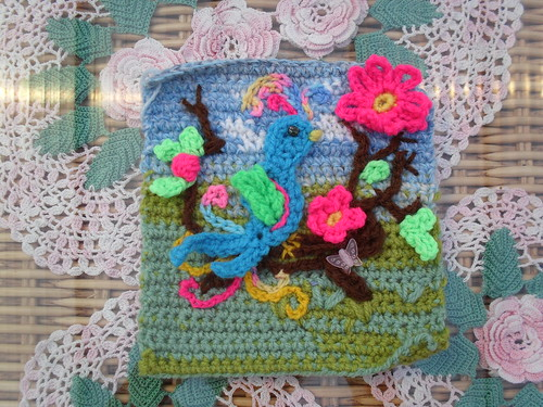 Just look at this beautiful Square 'A Bird of Paradise!'. OOh it's so lovely! Thank you for the Squares!