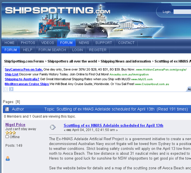 Shipspotting ex-HMAS Adelaide