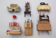 collection of piles (virginhoney) Tags: studio miniature furniture collection tiny backside sculptures piles dollhouse atelier