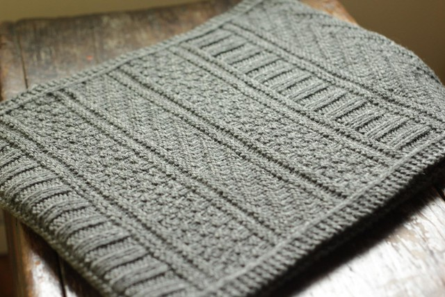 Guernsey Knitting Patterns : A Common Thread   knit guernsey wrap - finished!