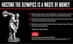 《经济学家》新广告质疑伦敦奥运商业价值
