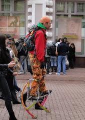 Arbat, Moscow (lotos_leo) Tags: city urban spring moscow poles festivity performers stilts stiltwalker arbat      soapbubbleday