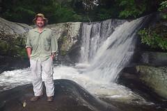 JK at Sanje Waterfall, Udzungwa National Park