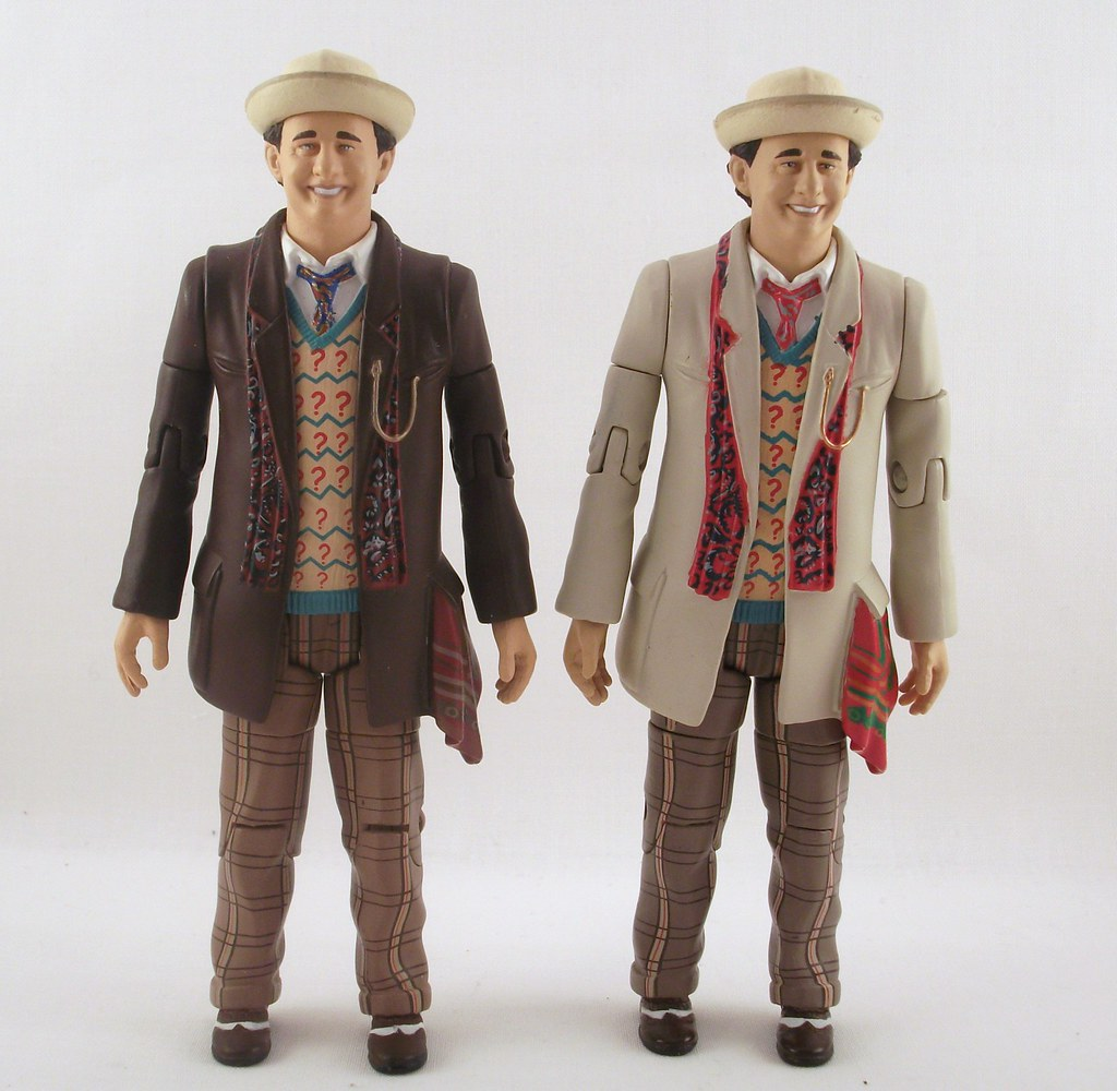 """7TH DOCTOR WHO WITH HAT UMBRELLA /& BROWN COAT SMILING FACE 5/"""" CLASSIC FIGURE"""